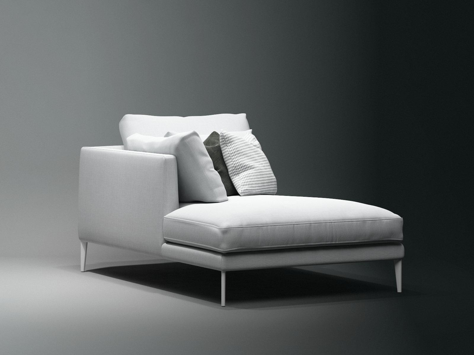 Paraiso chaise longue 3d model bonaldo for Chaise 3d dessin