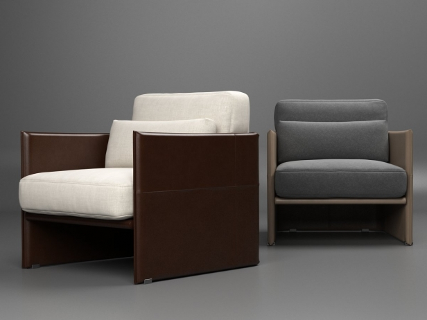 Luggage Armchair 3d Model Minotti Italy