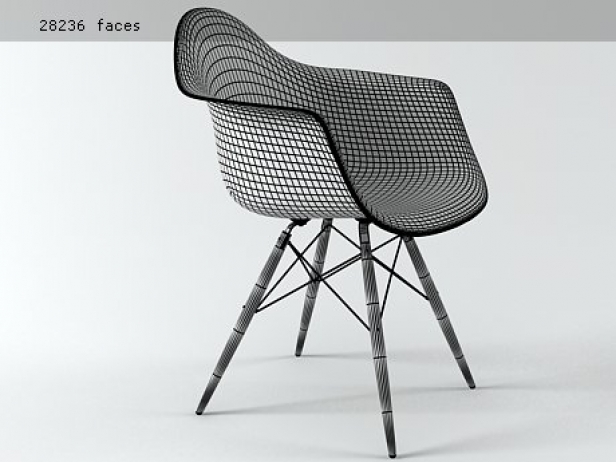 Eames Plastic Armchair DAW 7