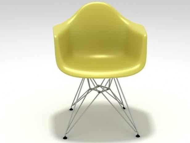 Eames Plastic Armchair : Eames plastic armchair dar d model vitra