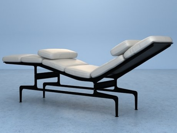 Eames chaise 3d model herman miller - Chaise eames herman miller ...