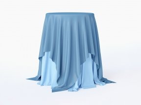 Sky-blue Cocktail Table
