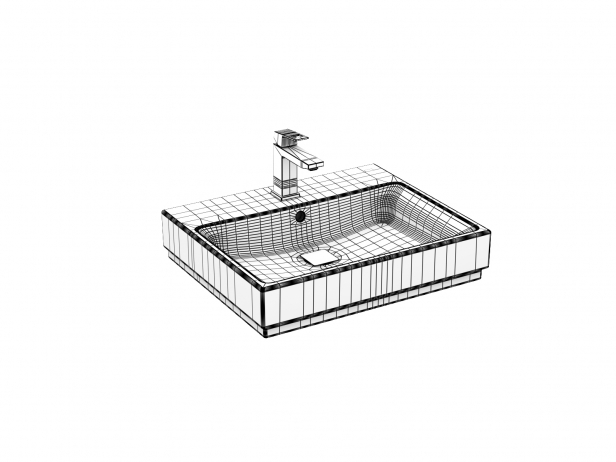 Cube Wall-hung Basin 60 Set 13