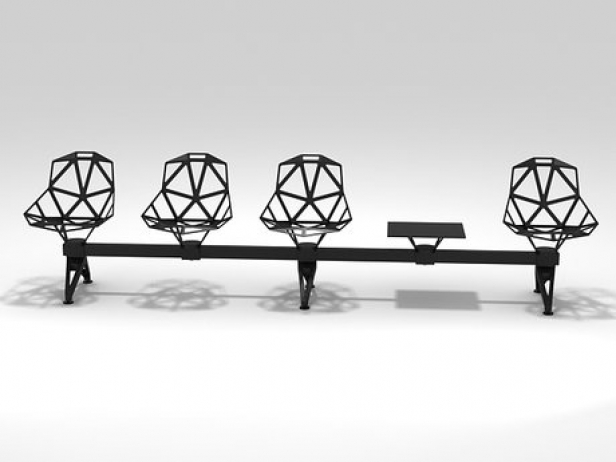 Chair One Public Seating System 2 335 3d Model Magis