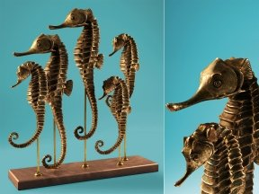 Five Seahorse Sculpture