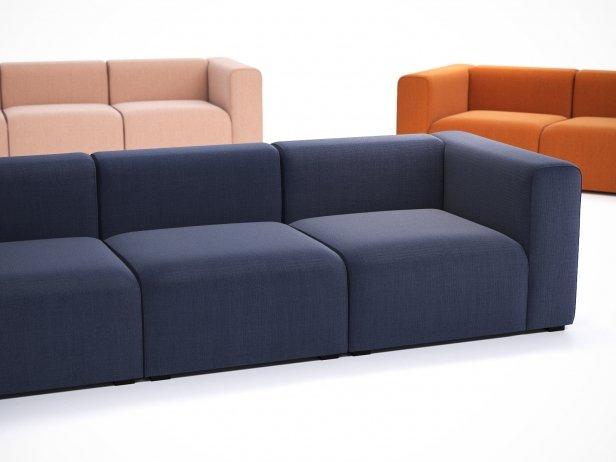 Mags 3-Seater Sofa 3d Model | Hay, Denmark