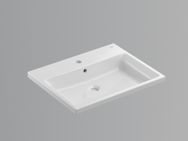 Cube Semi-recessed Basin 60 Set 7