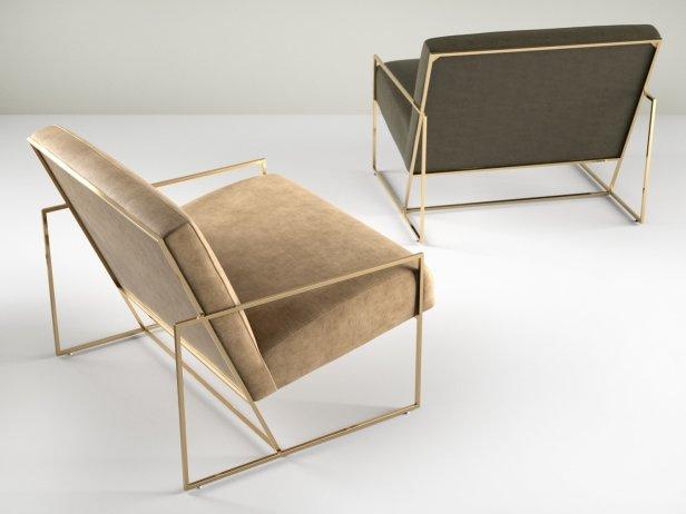 Thin Frame Lounge Chair 4