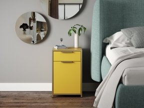 Dita Bedside Cabinet with Drawer and Door