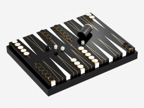 All Black Backgammon