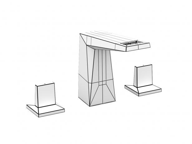 Cube Wall-hung Basin 100 Set 20