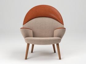 PP521 Upholstered Peacock