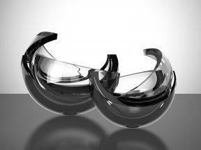 Armadillo Sphere Glass Sculpture