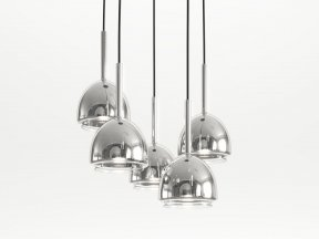 Chrome Bell Ceiling Light 5