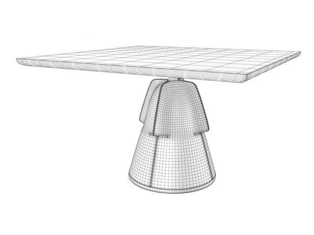 DS-615 Square Dining Table 4