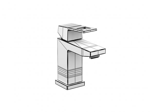 Cube Wall-hung Basin 50 Set 8