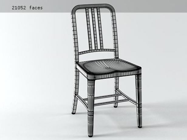 navy chair 3d model | emeco