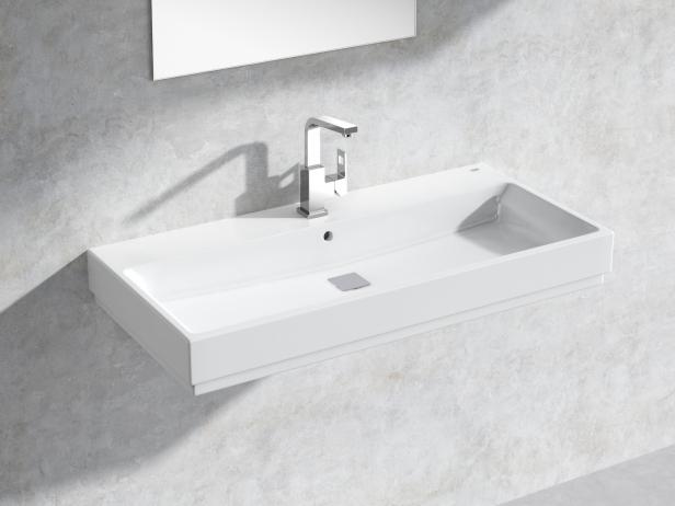 Cube Wall-hung Basin 100 Set 1