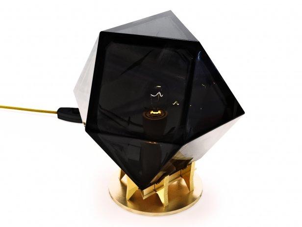 Welles Double Blown Glass Desk Lamp 5