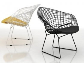bertoia small diamond chair 3d model knoll. Black Bedroom Furniture Sets. Home Design Ideas