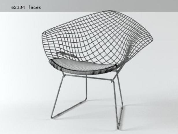 Bertoia Small Diamond Chair 13