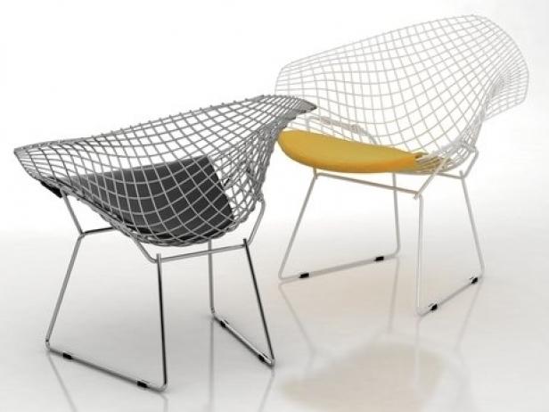 Bertoia Small Diamond Chair 5
