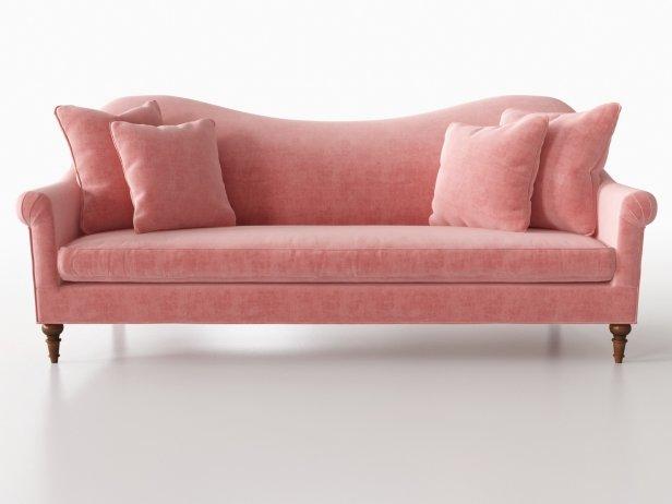 Cerise Velvet Sofa 3