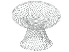 White Fishnet Chair
