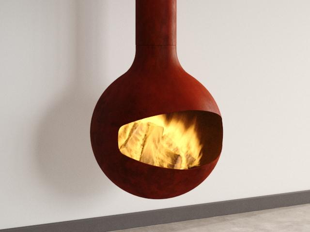 Bathyscafocus Suspended Fireplace 7