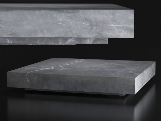 Low Marble Plinth Square Coffee Table 4