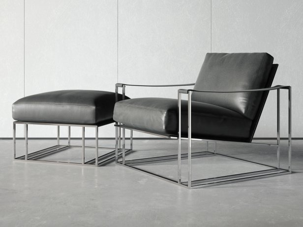 Sling Chair & Ottoman 4