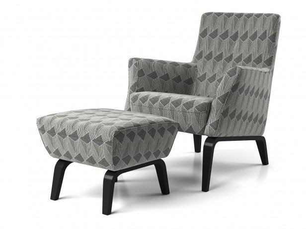 Palio Armchair Low + Pouf 2