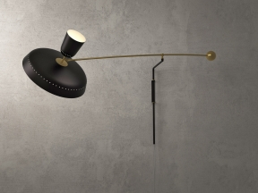 French Balancier Wall Lamp