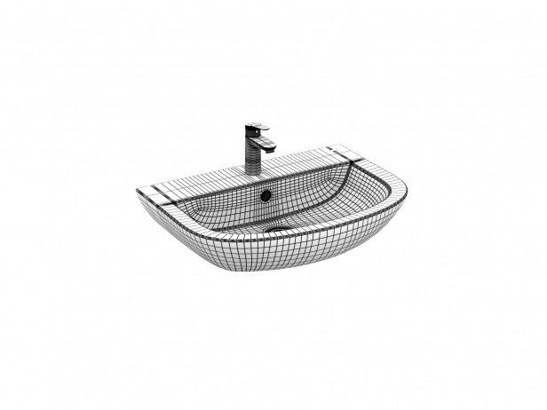 Bau Wall-hung Basin 65 Set 15