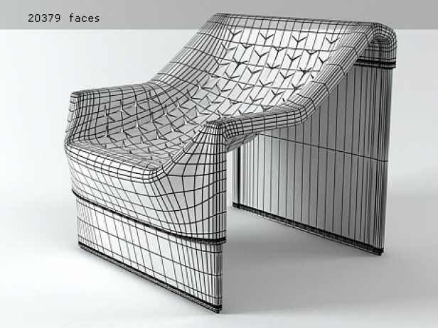 Skin armchair 3d model molteni c for Arredi 3ds
