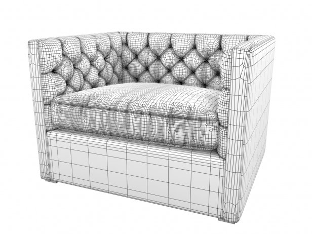 Mercer Tufted Club Chair 4