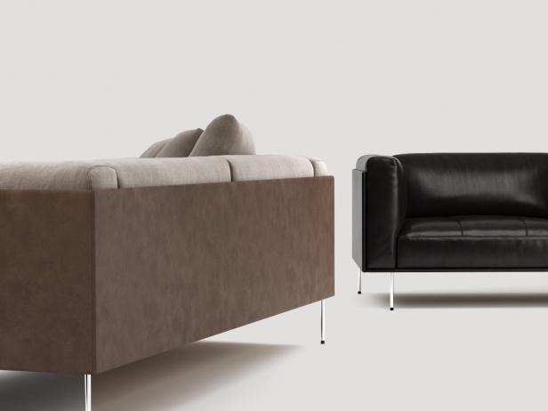 Rod Sofa 200 3d model | Living Divani