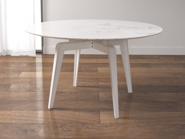 odessa dining table 130 3d model ligne roset