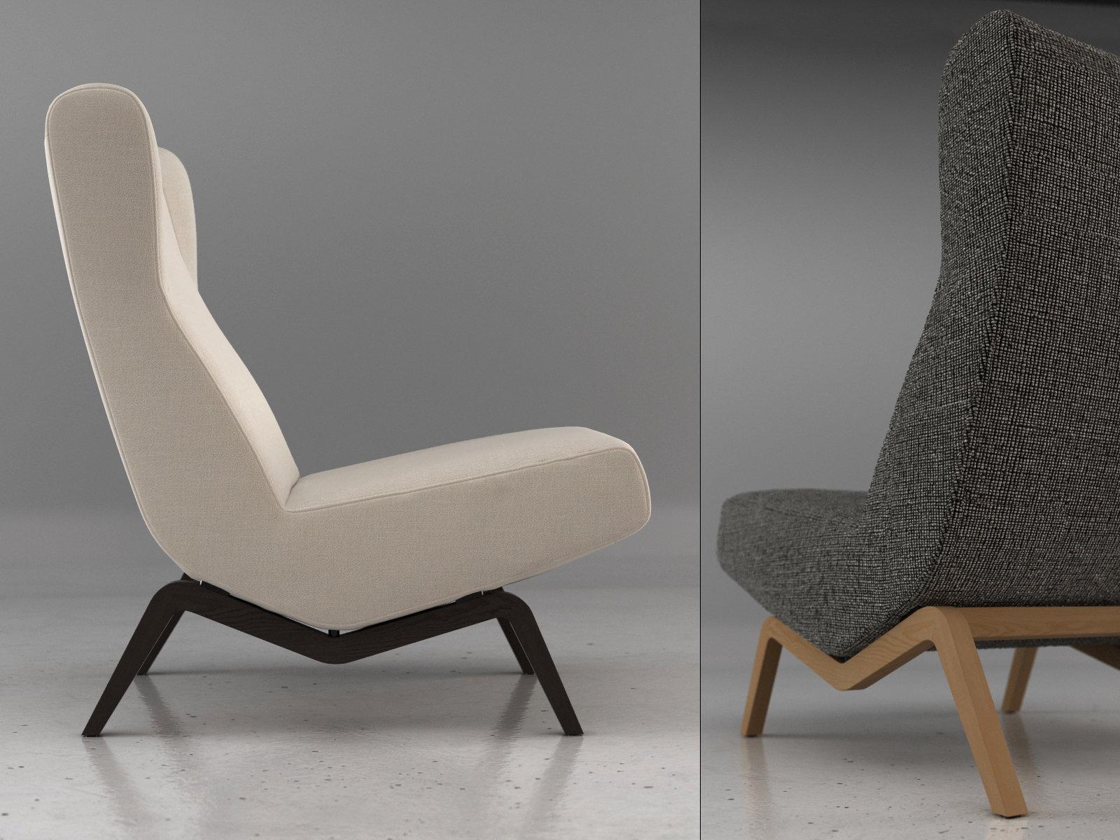 archi easy chair mod le 3d ligne roset. Black Bedroom Furniture Sets. Home Design Ideas