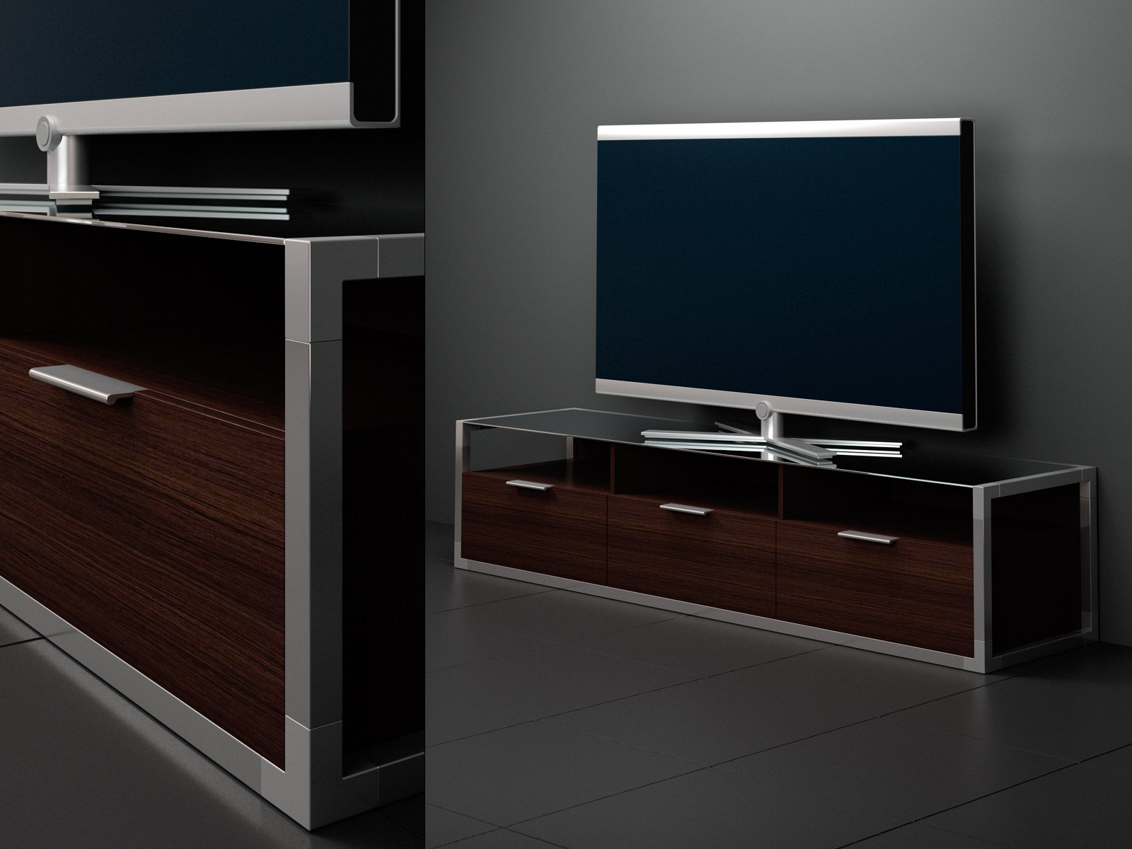 dedicato tv 3d model ligne roset. Black Bedroom Furniture Sets. Home Design Ideas