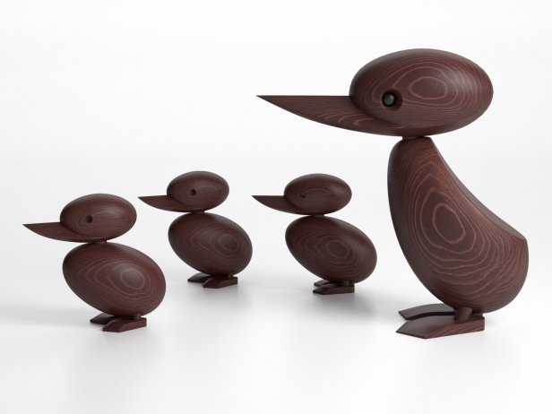 Wooden Duck and Duckling 1