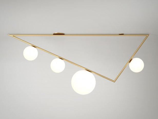 Triangle 3+1 Globes Ceiling Lamp 2