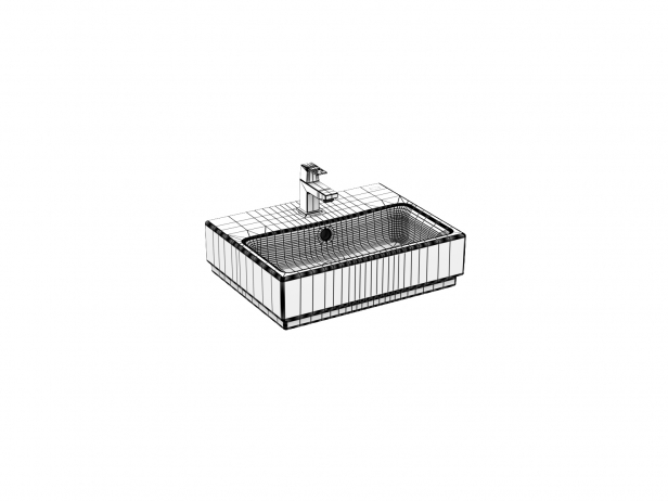 Cube Wall-hung Basin 45 Set 7