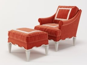 Palm Beach Armchair and Ottoman