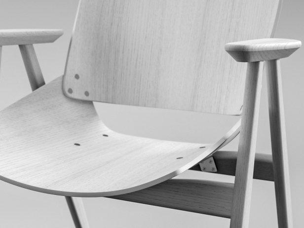 Shell Wood Armchair 2