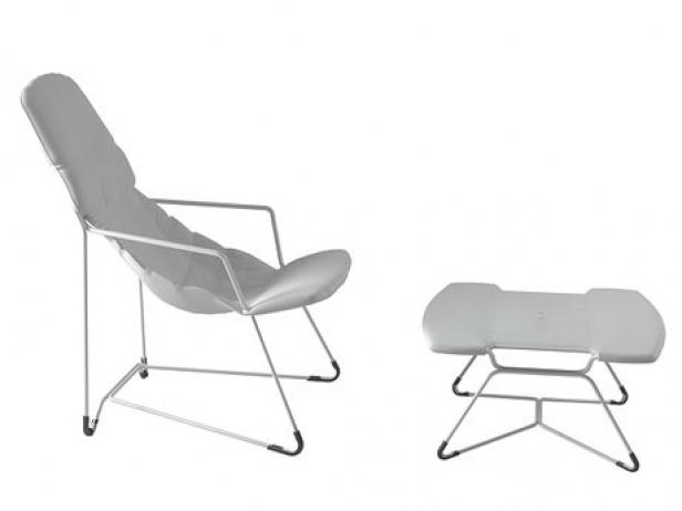 plein air armchair 271 and footstool 272 3d model alias