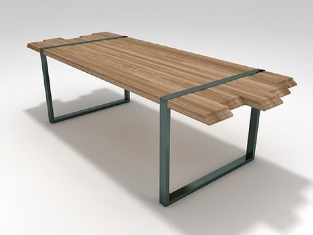 Raw 3d model zanotta for Table 6 in as 3725