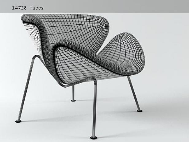 Captivating Orange Slice Chair 4