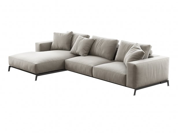 Ettore Corner Sofa 3d Model Flexform Italy