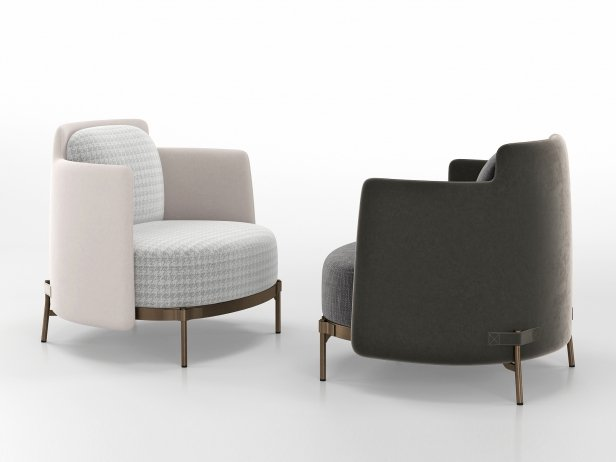 Tape Armchair with Armrests 1
